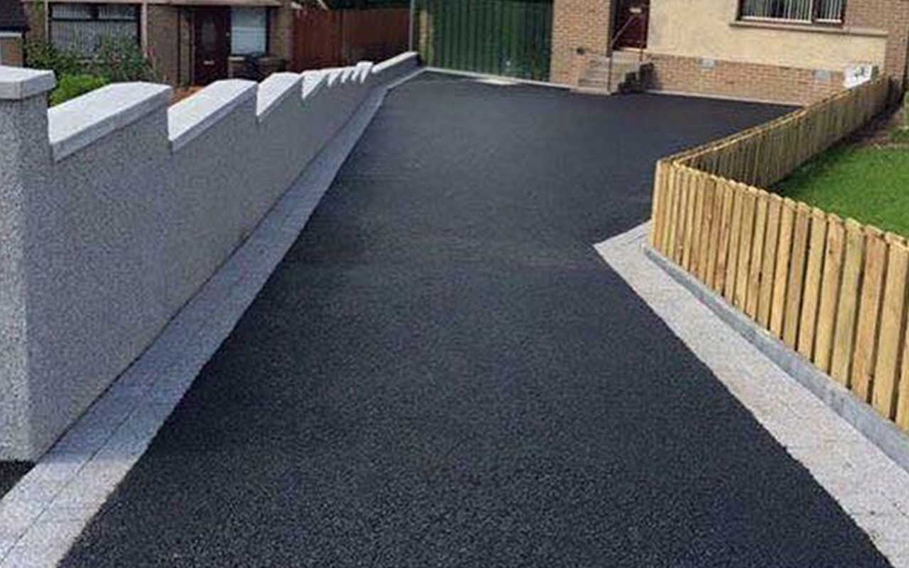 Tarmac Driveway and fence
